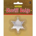 Badge-Sheriff/Silver -Western-1.75''