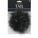 Bunny Tail-Black-4''
