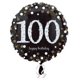 Foil Balloon - 100th Birthday Sparkle - 18""