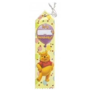 Award Ribbon- Pooh Bear-8.25''