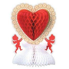 """Tissue Heart Centrepiece- Valentines Heart- 11"""""""