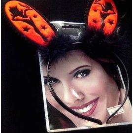 Headband-Bachelorette Red/Purle Devil Ears-1pkg