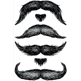 Temporary Tattoos-The Don Juan StacheTATs-1 Sheet