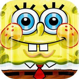 Plates BEV-SpongeBob-8pk-Paper