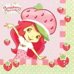 Napkins-BEV-Strawberry Shortcake-16pk-2ply- Final Sale