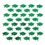 Confetti-Green Graduation Hat-Foil-2oz (Seasonal)