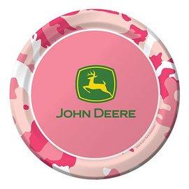 Plates-LN-Pink John Deere-8pkg-Paper - Final Sale