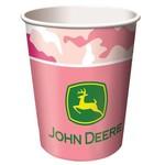 Paper Cups-Pink John Deere-8pkg-9oz - Final Sale