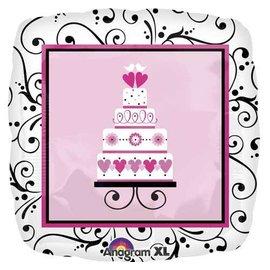 "Foil Balloon - Sweet Wedding Cake - 18"""