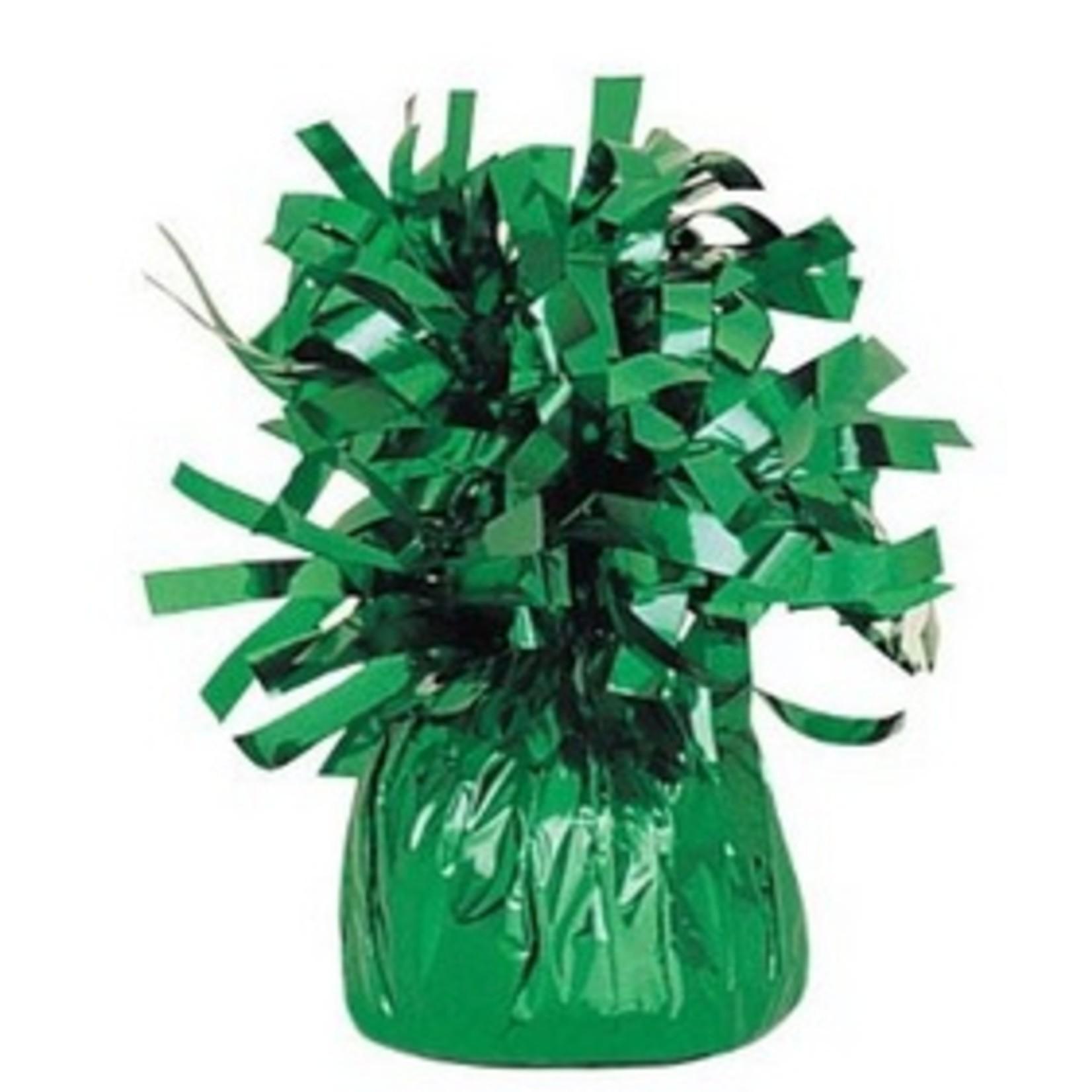 """Balloon Weight-Foil-Green-1pkg-4.5""""x2.25"""""""