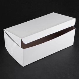 Cake Box-White-Paper-6''x3.5''x3'' **