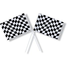 Flag-Race Car-8''x14.5''