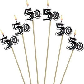 Candles-50th-6pk-9.5''