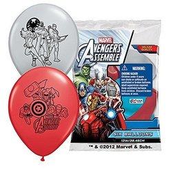 """Latex Balloons-Avengers-6pkg-12"""""""