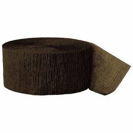 "Paper Crepe Streamer- Brown (81ft x 1.75"")"