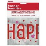 Banner-Happy Valentine's Day-Foil-9ft