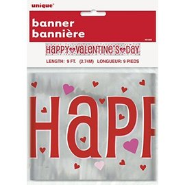 Banner-Happy Valentine's Day-Foil-9ft