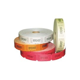Ticket Roll-Refreshments-Multi Color-1000pk/2.25''