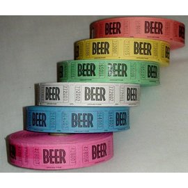 Ticket Roll-Beer-Multi Color-1000pk/2.25''