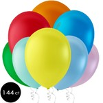 Latex Balloons - Assorted Colors - 12'' - 144pk