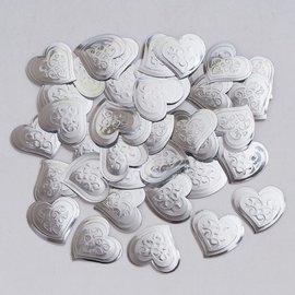 Confetti-Embossed Silver Hearts-14g