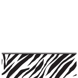 Tablecover-Rectangle-Zebra Print-54''x108''-Plastic (Discontinued)