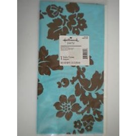 Table Cover- Damask Floral-Plastic-54'' x 102'' (Discontinued)