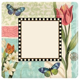 Plates- LN- Garden Melody-10pk-Paper (Discontinued/Final Sale)