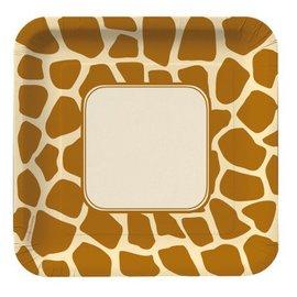 Plates-LN-Giraffe Print-8pkg-Paper (Discontinued)