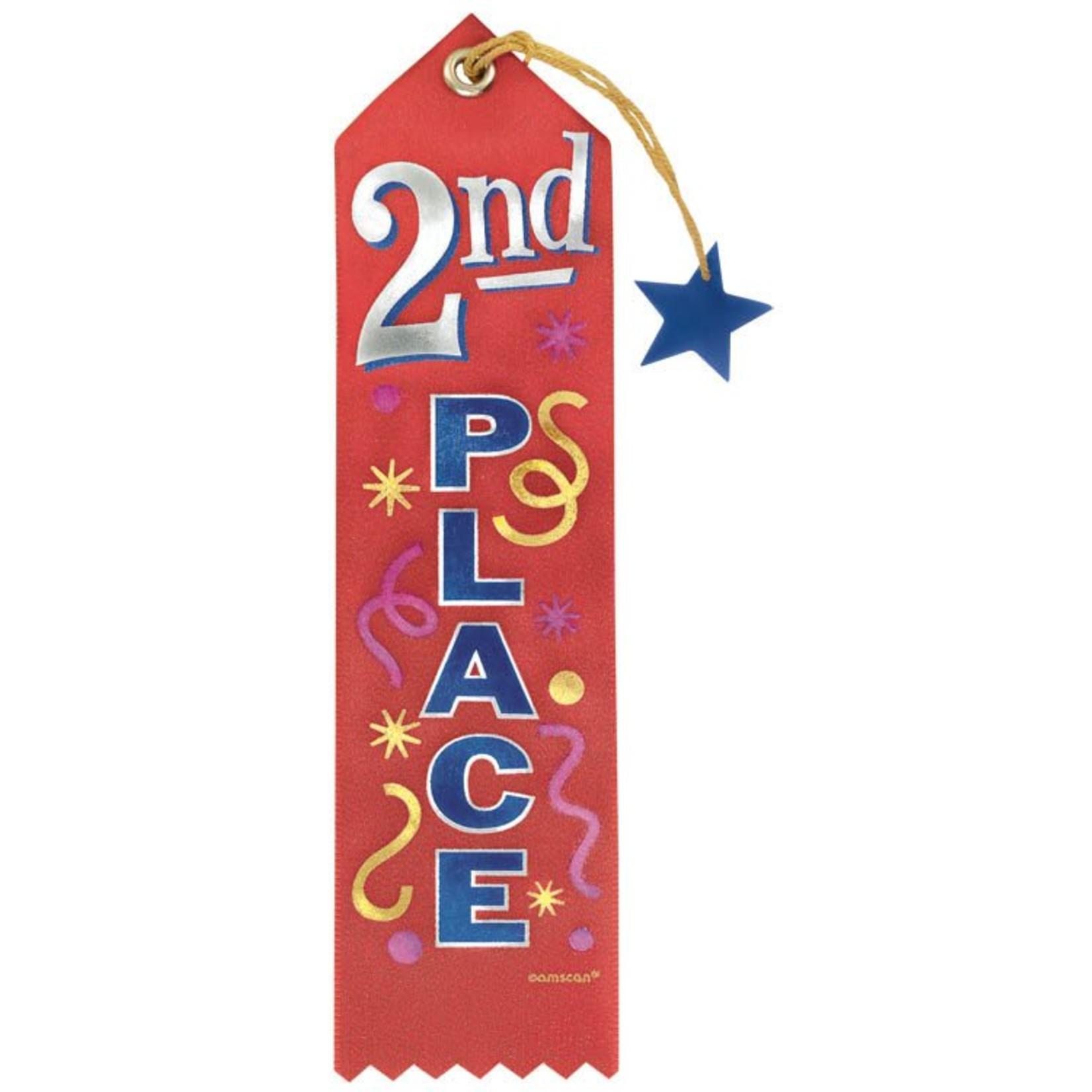 Award Ribbon-2nd Place-7.75''