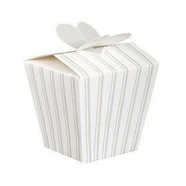 """Favor Boxes-Wedding Stripes-4pk/3.5""""x4.5""""x2.87"""""""