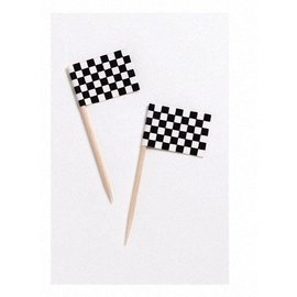 Flag Picks-Race Car Flag-50pkg-2.5""
