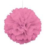 Dangler-Puff Ball-Pink-paper-16''