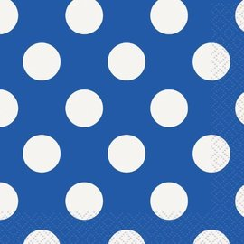 Napkins-BEV-Royal Blue Dots-16pk-2ply
