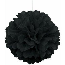 "Puff Ball Decor- Black- 16"""