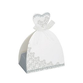 "Favour Boxes-Wedding Dress-8pk/3.25""x4.62""x1.87"""