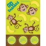 Stickers-Monkeyin Around-4 Sheets