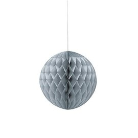 Honeycomb Ball-Silver-Paper-8''