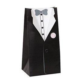 "Favor boxes-Wedding Groom Suit-8pk/2.5""x5""x2"""