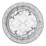 "Beverage Paper Plates- Victorian Wedding- 8pk/6.75"" (Discontinued)"