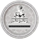 """Luncheon Paper Plates- Victorian Wedding- 8pk/8.75""""  (Discontinued)"""