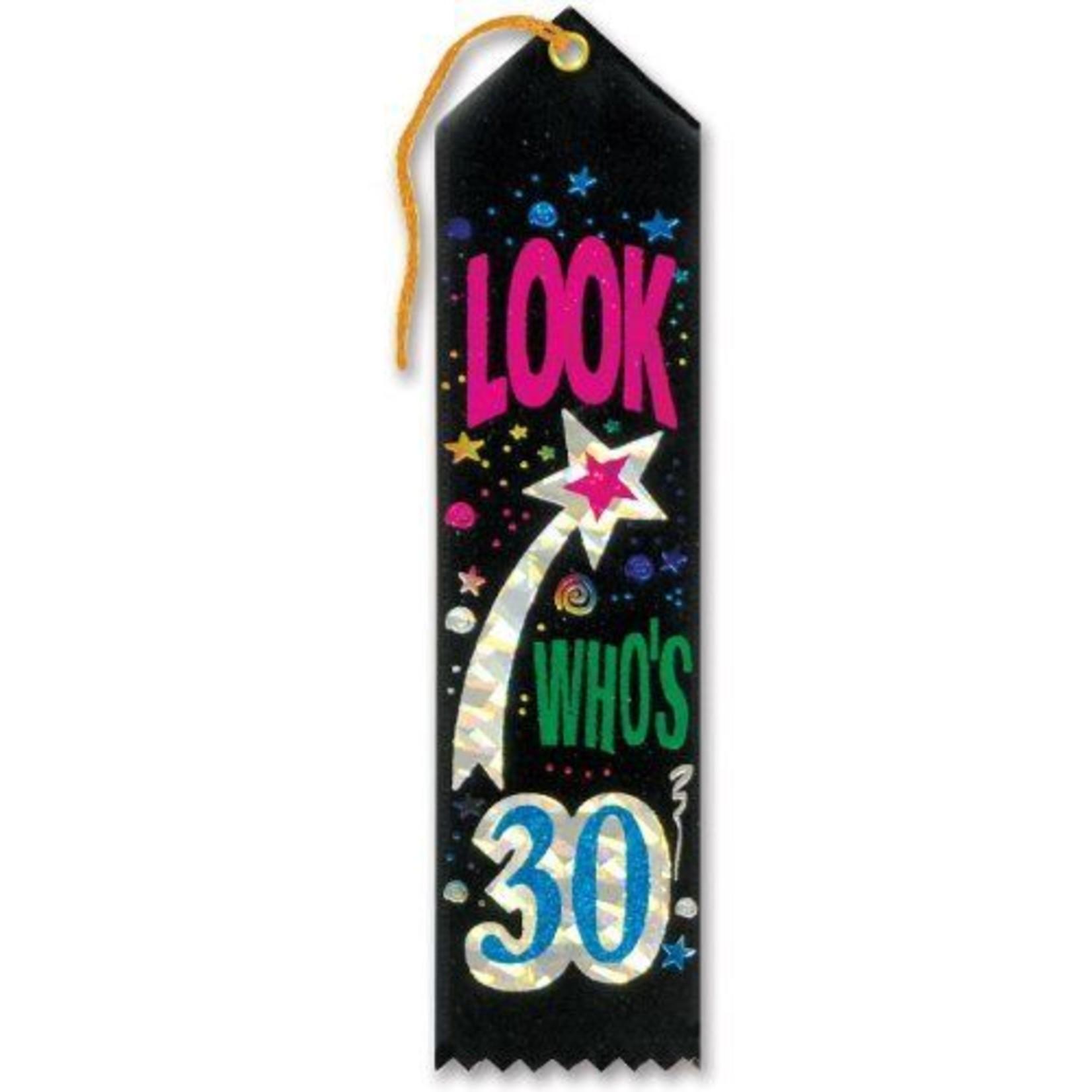 Award Ribbon-Look Who's 30-8.4''
