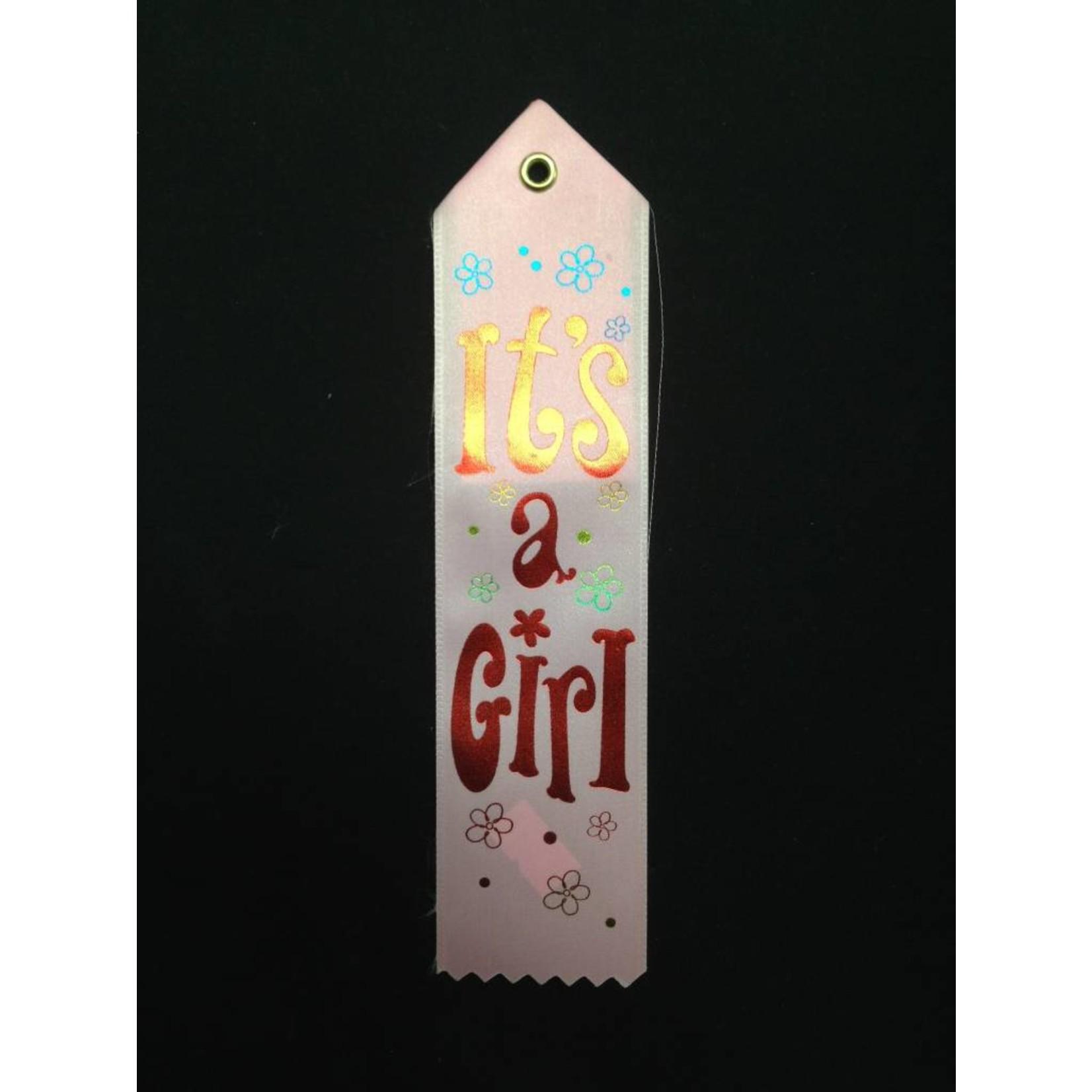 Award Ribbon-Its A Girl-8.25''