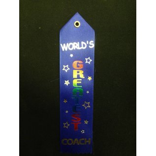 Award Ribbon-World's Greatest Coach-8.25''