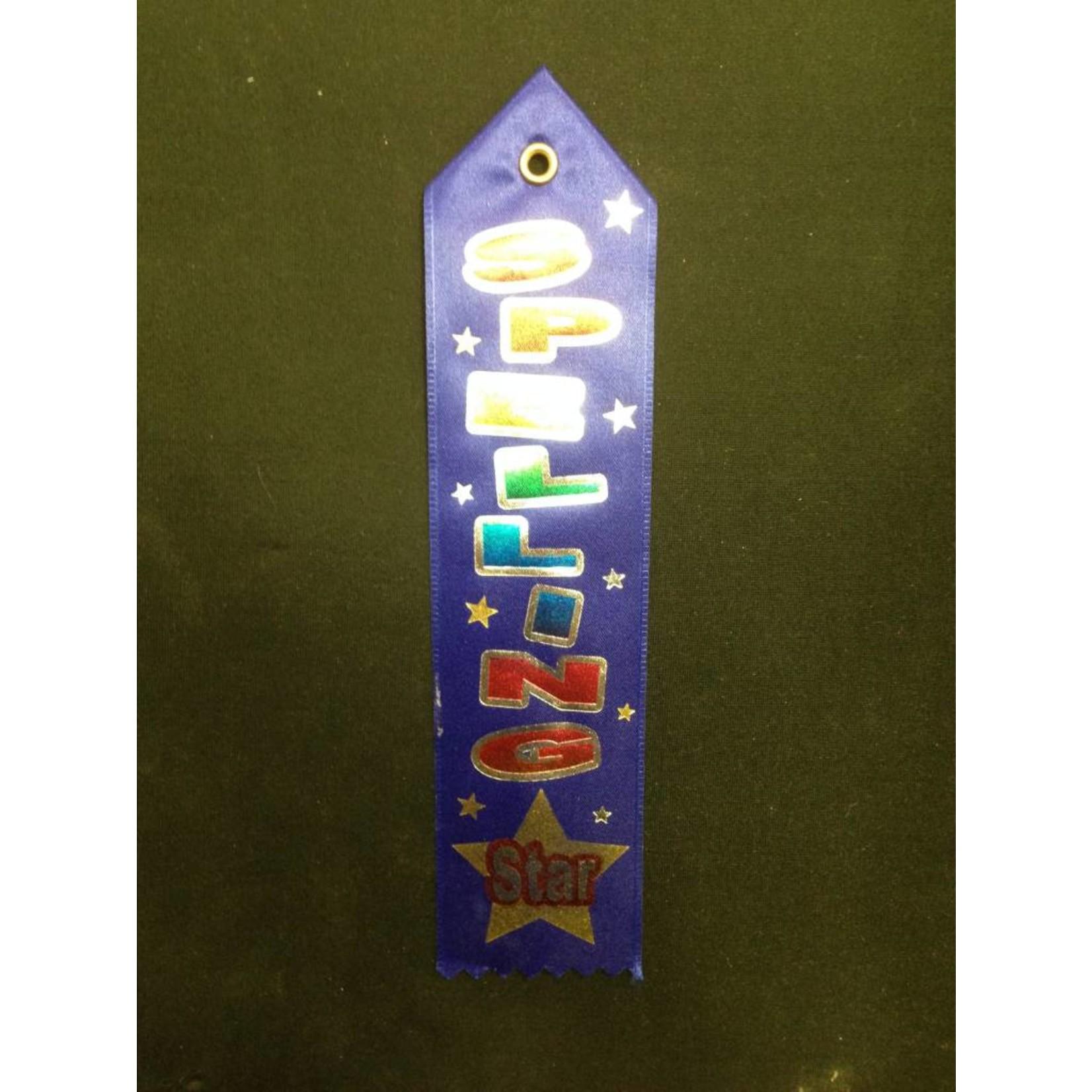 Award Ribbon-Blue Spelling Star-8.4''