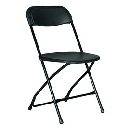Rental Chair-Black-Plastic-Folding-1Day