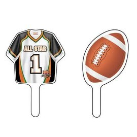 Cupcake Toppers-Football Fanatic-12pkg