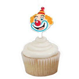 Cupcake Toppers-Big Top Circus-12pkg