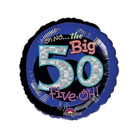 Foil Balloon - Oh No the Big 50 - 18""