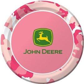 Plates-BEV-Pink John Deere-8pkg-Paper - Discontinued